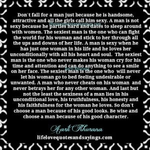 quotes about a faithful man