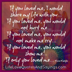 If you loved me,..