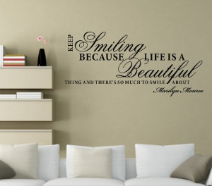 0773 Wall Stickers Quote Small Smile Quote Family Wall Sayings Wall ...