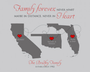 Family Gift Quote Maps, Mom and Dad , Kids, Grandparents, Thank You ...