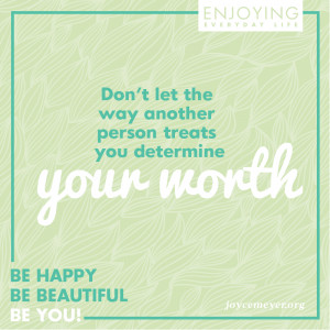 Inspirational Quote - Determine Your Worth