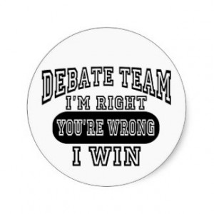 Debate Team Classic Round Sticker