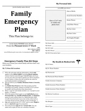 Emergency planning quotes quotesgram for Emergency response checklist template