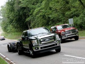 1010Dp 2011 Ford Vs Ram Vs Gm Diesel Trucks F350 Dodge Ram Side By ...