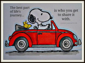 Snoopy's road trip