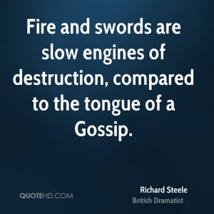 Fire and swords are slow engines of destruction, compared to the ...