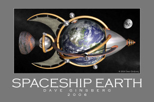 Spaceship Earth - Pixel Planet Pictures - Copyright © Dave Ginsberg
