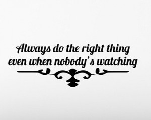 Always Do The Right Thing Vinyl Wal l Decal Quotes Home Sticker Decor ...