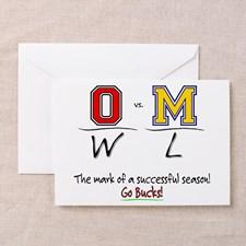 Ohio State Buckeyes Football Greeting Cards
