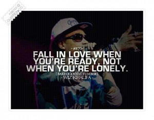Fall in love when youre ready quote