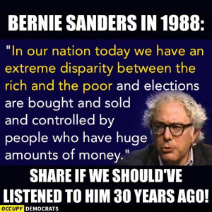 Bernie Sanders hasn't changed much