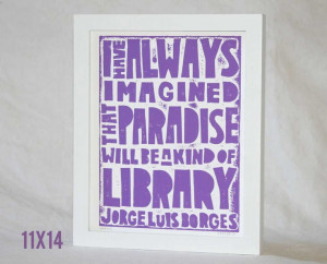 Back to School Fine Art Poster Library Quote for Readers. $27.00, via ...