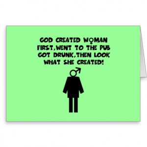 Anti men funny women's greeting cards