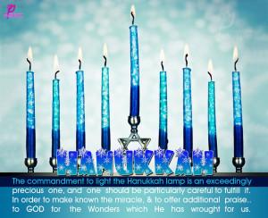 The commandment to light the Hanukkah lamp is an exceedingly precious ...