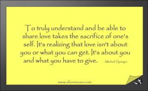 Quote Sacrificial Love Sacrifice Quotes