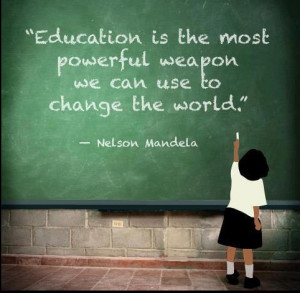 Best English Inspirational Quotes of Nelson Mandela - Education is the ...