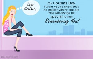 missing you card for cousins, cousin missing you cards, free cards