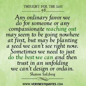 compassion quotes, giving quotes, thought for the day
