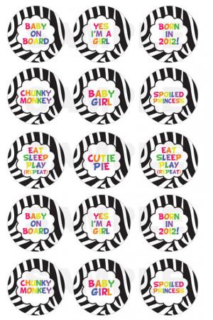 INSTANT DOWNLOAD - Zebra / Rainbow Sayings Bottle Cap Images - 4x6 ...