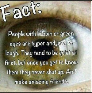 Facts about hazel eyes ;)