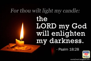 For thou wilt light my candle: the LORD my God will enlighten my ...