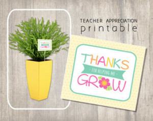 Unique Teacher Appreciation Printab le Gift Card - Instant Download ...