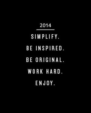 New year, new semester, ENJOY!