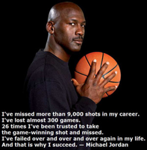 Basketball player Michael Jordan describes why he is a success.