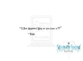 Kingdom Hearts Revelations: Riku's Quote 2 by ShionHibari