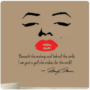 Marilyn Monroe Wall Decal Decor Quote Face Red Lips Large Nice Sticker ...