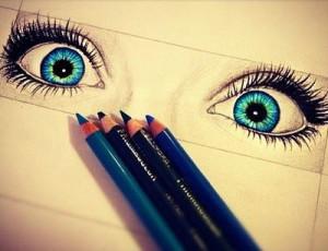 , blue, boys, colour, colourful, cool, draw, drawing, eyelashes, eyes ...