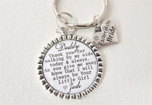 FATHER+of+the+BRIDE+Personalized+Dad+Keychain+by+MyBlueSnowflake,+$16 ...