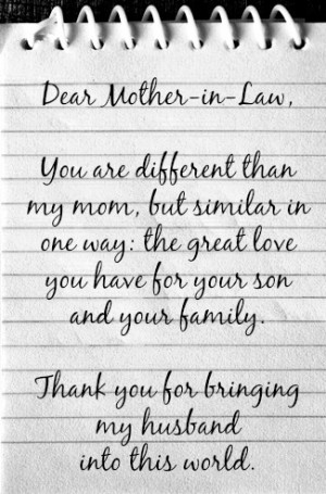Nice Mother In Law Quotes