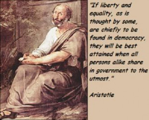 If liberty and equality, as is thought by some, are chiefly to be ...