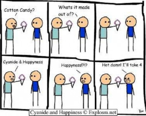 The original Cotton candy Cyanide and Happiness comic strip: