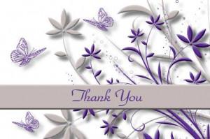 Purple Butterfly Thank...
