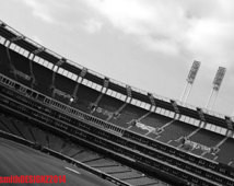 ... White Cleveland Indians Baseball Field, Sports Photo, by Abby Smith