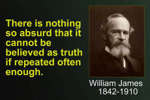 william james - repeated is truth