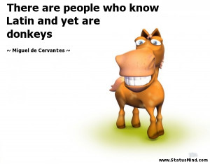 ... and yet are donkeys - Miguel de Cervantes Quotes - StatusMind.com