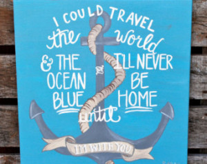 Anchor Quote Canvas Painting 20 x 2 0 Home Wall Hanging Art ...