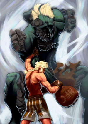 Beowulf Takes on the Beast Grendel