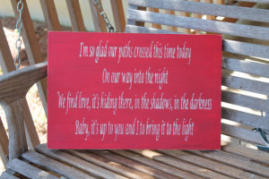 Song Quote Wood Sign, Dave Matthews Band Quote, Love Quote Sign