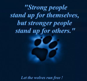 Stand up for others!