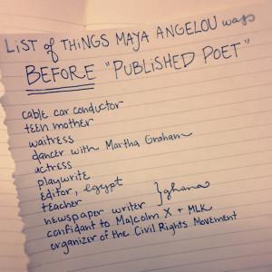 list of things Maya Angelou was before