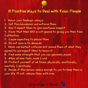 11 Positive Ways To Deal With Toxic People