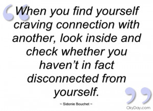 when you find yourself craving connection sidonie bouchet