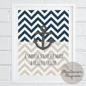 Anchor Sea Print 8x10 - inspirational print / quote print / anchor ...