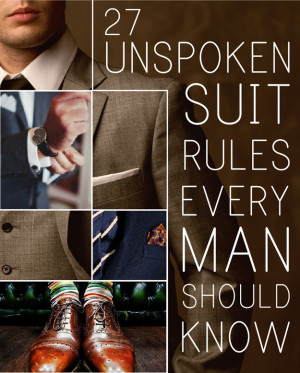 27 Unspoken Suit Rules Every Man Should Know