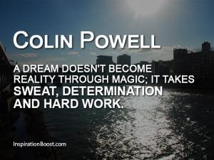 Colin Powell Dream Quotes