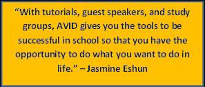 For more information on AVID visit www.avid.org